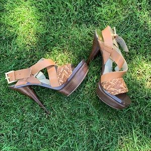Michael Kors brown leather heels